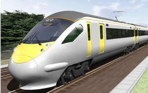 Artist's impression of the new CTRL Domestic stock from Hitachi