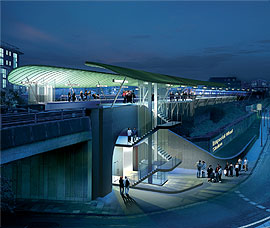 Artists' impression of Imperial Wharf station [from St George PLC]