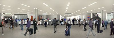Impression of the new Bressenden Place ticket hall
